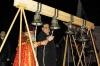 Отец Сергий и Аман Гумирович пробуют новые колокола - Пасха 2009г.